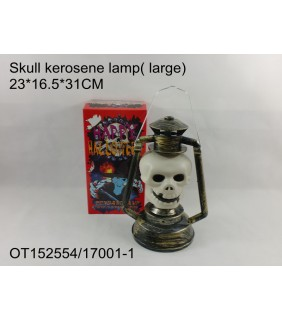 HALLOWEEN - SKULL KEROSENE LAMP WITH SOUND