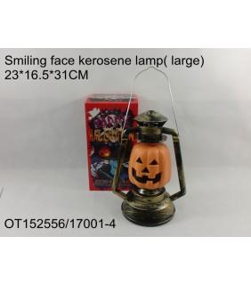 HALLOWEEN - SMILING PUMPKIN KEROSENE LAMP LARGE