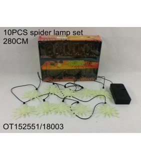 HALLOWEEN - 10PCS SPIDER LAMP SET
