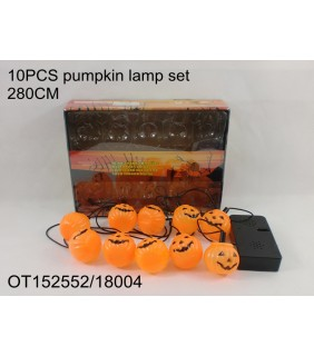 HALLOWEEN - 10PCS PUMPKIN LAMP SET