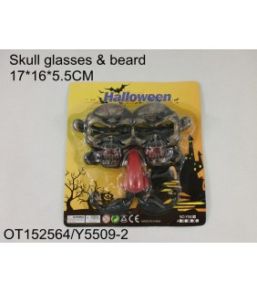 HALLOWEEN - SKULL GLASSES&BEARD